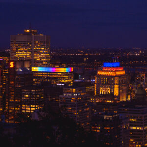 MIDNIGHT VIEW, MONTREAL, 2020