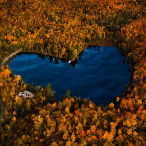 THE HEART LAKE, EASTERN TOWNSHIP ,QUEBEC, 2020