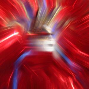 """MASK SERIES """"REDWOMANWITHTHEBLUEMASK II"""", 2020"""