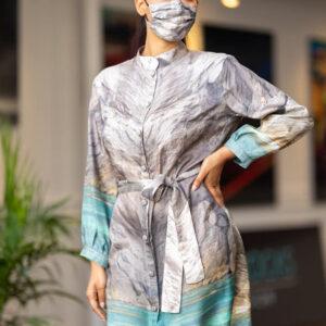 Paradise Meditation Silk Dress ARTROCKS BY MANIK